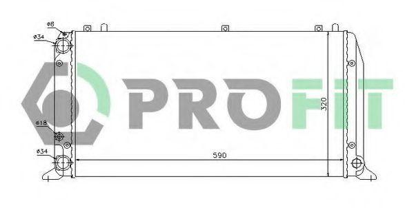 Радиатор охлаждения PROFIT PR0016A2