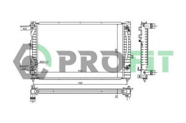 Радиатор охлаждения PROFIT PR0017A1