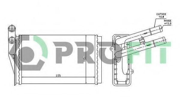Радиатор отопителя салона PROFIT PR 0018N1