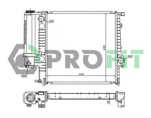 Радиатор охлаждения PROFIT PR0050A1