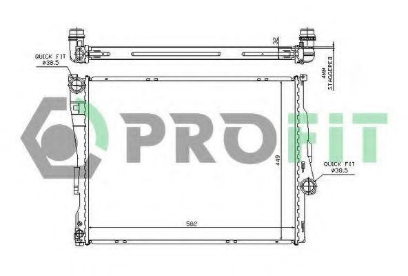 Радиатор охлаждения PROFIT PR0054A3