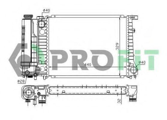 Радиатор охлаждения PROFIT PR0060A1