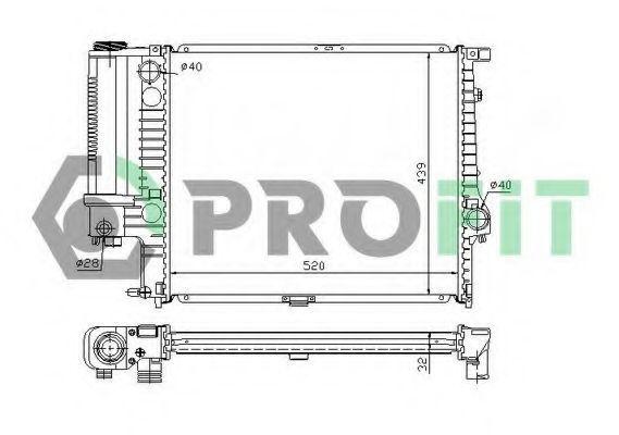 Радиатор охлаждения PROFIT PR0060A2