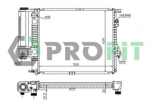 Радиатор охлаждения PROFIT PR0070A1