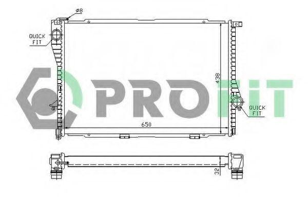 Радиатор охлаждения PROFIT PR0071A1