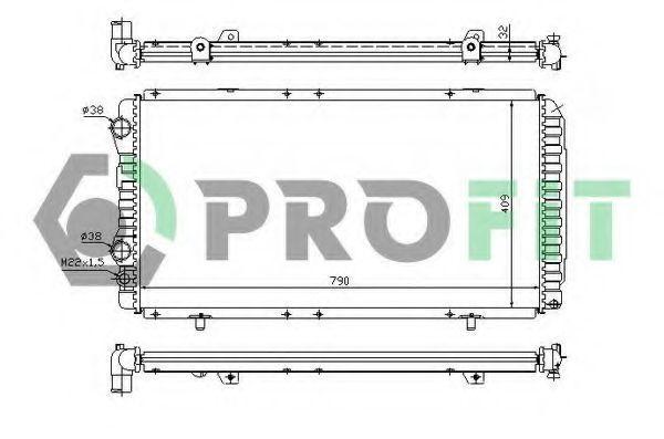 Радиатор охлаждения PROFIT PR0540N1