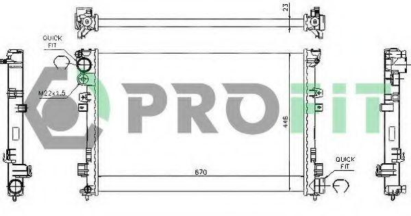 Радиатор охлаждения PROFIT PR 0545A1