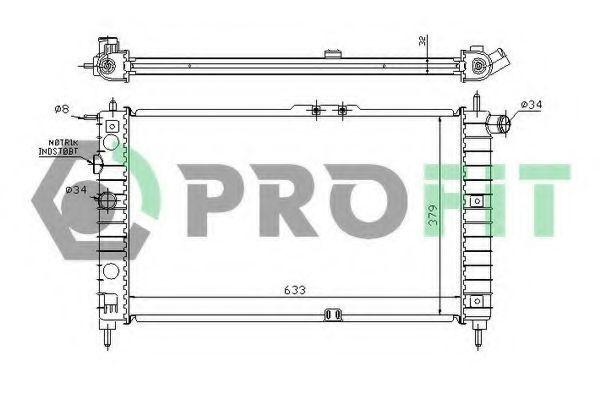Радиатор охлаждения PROFIT PR1105A1
