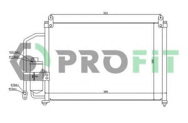 Конденсор кондиционера PROFIT PR1106C1