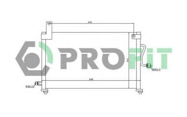 Радиатор кондиционера PROFIT PR 1108C1