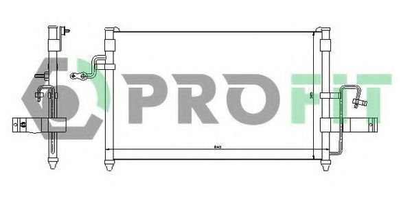 Радиатор кондиционера PROFIT PR1141C1