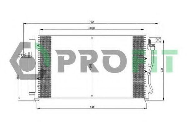 Радиатор кондиционера PROFIT PR 1301C1