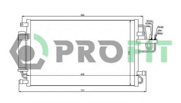 Конденсор кондиционера PROFIT PR 1305C1