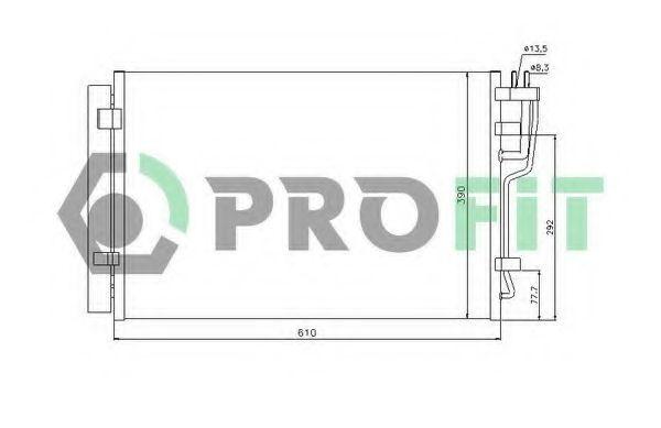 Конденсор кондиционера PROFIT PR1308C1