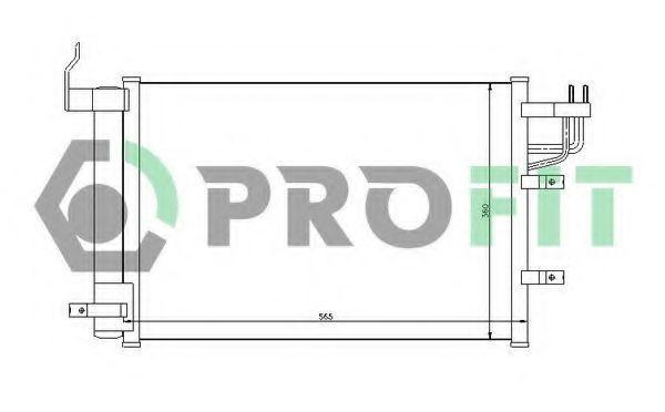 Конденсор кондиционера PROFIT PR1401C1