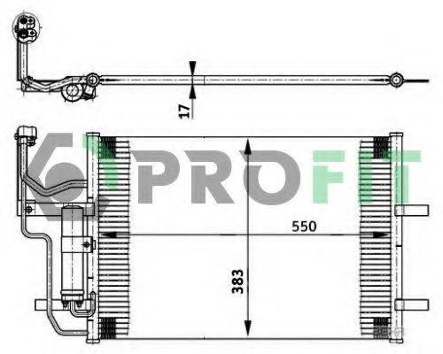 Конденсор кондиционера PROFIT PR1501C1