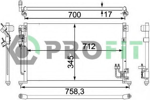 Радиатор кондиционера PROFIT PR 1601C1