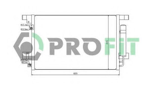 Радиатор кондиционера PROFIT PR 1605C1