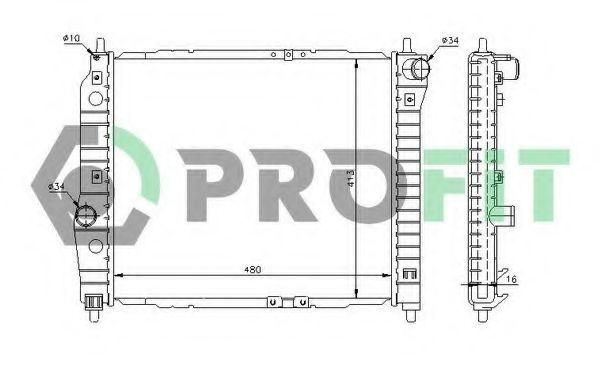 Радиатор охлаждения PROFIT PR 1703A2
