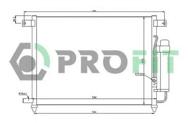 Конденсор кондиционера PROFIT PR1703C1