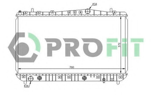 Радиатор охлаждения PROFIT PR1704A2
