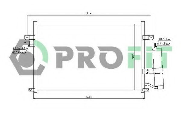 Конденсор кондиционера PROFIT PR1704C1