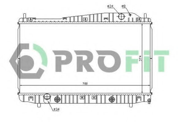 Радиатор охлаждения PROFIT PR1705A2