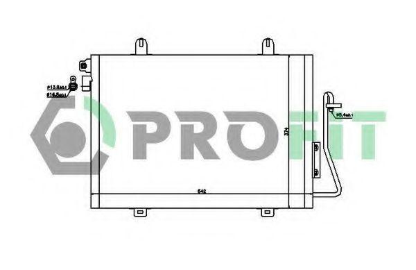 Конденсор кондиционера PROFIT PR1901C1