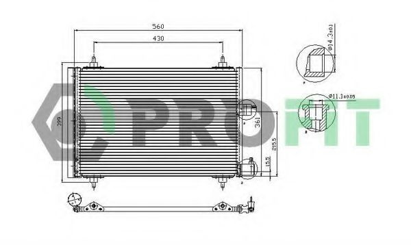 Конденсор кондиционера PROFIT PR1903C1
