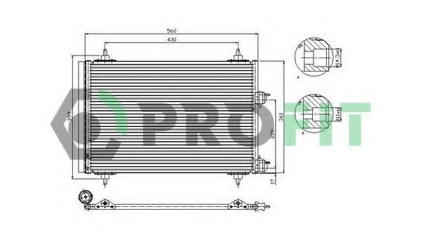 Конденсор кондиционера PROFIT PR1905C1