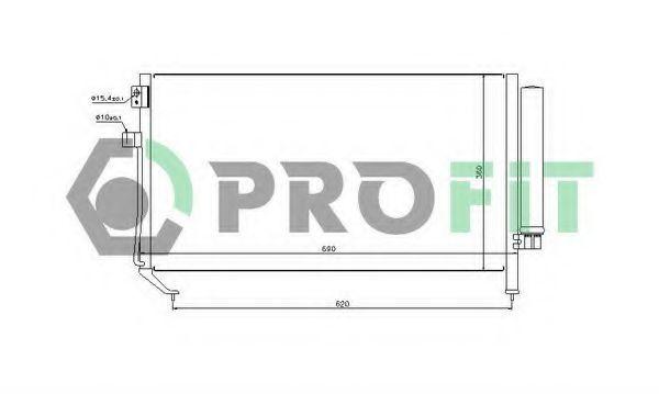 Радиатор кондиционера PROFIT PR2028C1