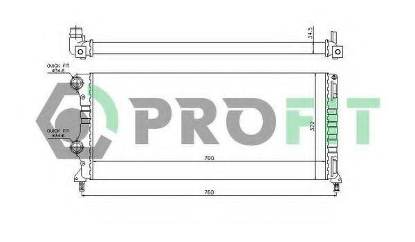 Радиатор охлаждения PROFIT PR2210A2