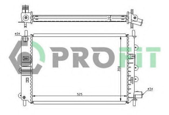 Радиатор охлаждения PROFIT PR2530A1
