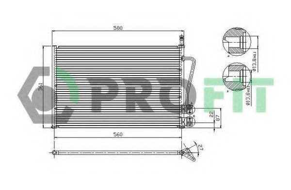 Конденсор кондиционера PROFIT PR2535C1