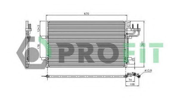 Конденсор кондиционера PROFIT PR2537C1