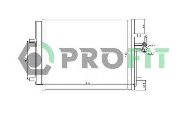 Конденсор кондиционера PROFIT PR2539C1