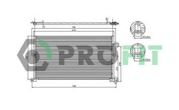 Конденсор кондиционера PROFIT PR2541C1