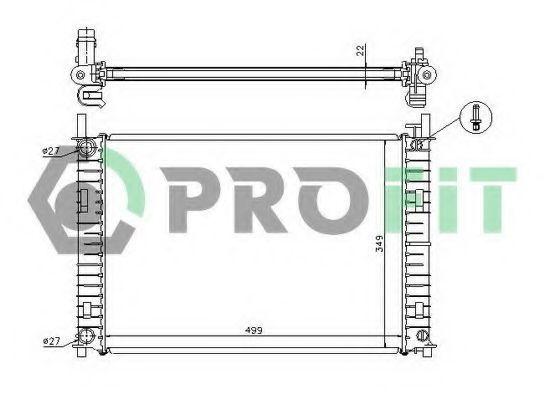 Радиатор охлаждения PROFIT PR2562A2