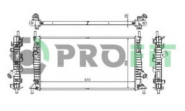 Радиатор охлаждения PROFIT PR 2563A1