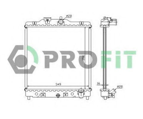 Радиатор охлаждения двигателя PROFIT PR 2912A2