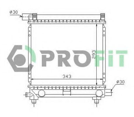 Радиатор охлаждения PROFIT PR3524A1