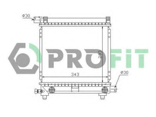 Радиатор охлаждения PROFIT PR3524A5