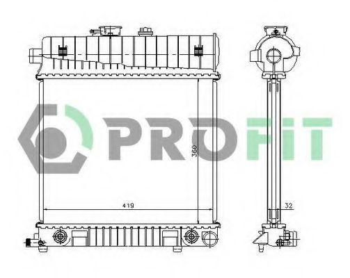 Радиатор охлаждения PROFIT PR3528A1