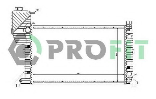Радиатор охлаждения PROFIT PR3546A1