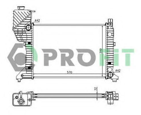 Радиатор охлаждения PROFIT PR3546A3