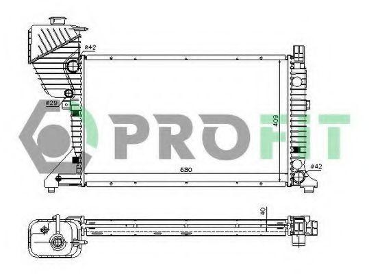 Радиатор охлаждения PROFIT PR3546A4
