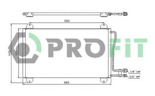 Конденсор кондиционера PROFIT PR3546C1