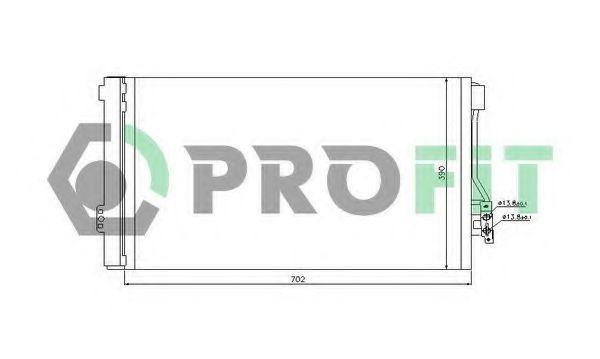 Конденсор кондиционера PROFIT PR3550C1