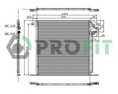 Конденсор кондиционера PROFIT PR3560C1