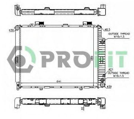 Радиатор охлаждения PROFIT PR3563A1